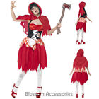 CL567 Zombie Hooded Beauty Bloody Red Riding Hood Horror Dead Halloween Costume