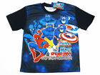 Marvel Heroes Beast Captain America Boy Polyester T-Shirt #009 Size 12 age 10-12