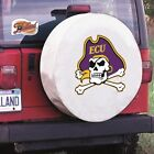 East Carolina Pirates White Spare Tire Cover By HBS