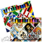 Stargazer Set of 12 Face / Body Paint Colour Sticks Crayons Face Painting Kit