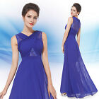 Women's Elegant Sheer Lace Blue Long Party Evening Formal Party Dress 08430