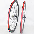 23 wide 38mm depth Clincher Carbon Wheels Road Bike wheels 3k Matt Tyre Cushion