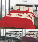 Wild Stag Deer Duvet Cover With Pillow Case Christmas Bedding Set All Uk Size