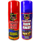 Anti Fog Rain Away Water Repellent Glass Window Car Windscreen Spray Set 618+601