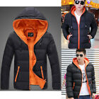 NEW Men Winter Casual Hooded Coat Thick Padded Jacket Slim Warm Outcoat Outwear