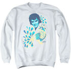 Elvis Presley King of Rock Musical Icon Blue Peacock Adult Crewneck Sweatshirt