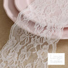"Soft White Floral Lace Fabric 4.5"" Wide Trim Ribbon Wedding Sewing Craft Decor"