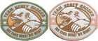 "Team Honey Badger ""We Take What We Want"" Velcro Patch, 4"" x 3"""