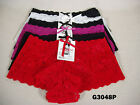 Lot 6 NEW Womens Lace Panties Boyshort Underwear Lingerie S  M  L  XL #G3048P