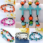 Candy Colors Howlite Turquoise Stone Ball Cross Beads Macrame Knitted Bracelet