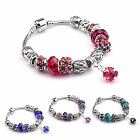Fashion European Style Charm Crystal Rhinestone Beads Bracelet For friend Gift
