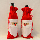 Christmas Santa Claus Knitted Coat Hat Wine Bag Bottle Cover Topper XMAS Decor