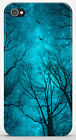 Cover per iPhone 4 4S 5 5S / Galaxy S3 S4 - ALBERI TREES NOTTE BLU 279 3DOYDGYR