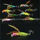 Sporting Fishing Tackle Freshwater Saltwater Lures Cicada Insect Barb Hook New