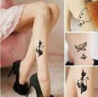 X-small Sexy Printed Tattoo Tights Cat Stockings Pantyhose Lolita butterfly Love