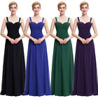 2016 Long Bridesmaids Ball Gown Evening Prom Party Masquerade Formal Maxi Dress