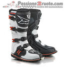 Stivali moto cross Axo Drone Limited Bianco Rosso White Red Atv quad Boots