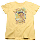 Betty Boop Cartoon Comic Icon Life's A Beach Luau Betty  Women's T-Shirt $21.95 USD