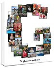 Personalised Photo Collage Canvas  Letter Collage / Montage great gift