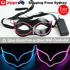 EL Wire LED Eyewear Mask Light Up Glow Princess Halloween Costume Party
