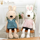 "Le Sucre Rabbits 47"" Giant Plush Doll Rabbit Rag Girl Love Korean Women Present"