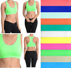 Women Sports Bra Yoga Fitness Crop Tank top Stretch Racerback Spandex Bandeau