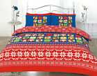 MERRY CHRISTMAS DUVET QUILT COVER WITH PILLOWCASES STAG BEDDING SET ALL SIZES