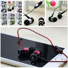 3.5mm Braided Metal With In-line Control Bass Stereo Earphone Mic For Smartphone