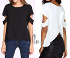 AU STOCK SEXY LADIES CASUAL PARTY OFF SHOULDER TOP BLOUSE SHIRT SZ 8-14 T131