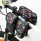 Bicycle Bike Cycling Frame Pannier Saddle Front Tube Bag Double Shoulder Pouch