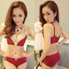 Wire Free adjust Sexy Push up bra sets underwear seamless A B C D  32 34 36 38
