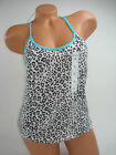 Joe Boxer Tank Top Womens Shirt Blouse Racerback Leopard Sleeveless NEW