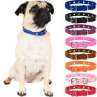 Adjustable PU Leather Rivet Studded Pet Puppy Dog Collar Neck Strap Safe Buckle