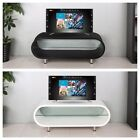 "Oval High Gloss TV Stand Modern Entertainment Unit In Black White For 28"" to 50"""