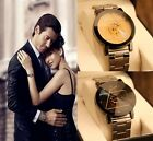 Luxury Mens Womens Watch Compass Stainless Steel Quartz Analog Wrist Watch HQ