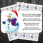 CHRISTMAS SNOWMAN SOUP POEM STICKERS LABELS x 42  #aav