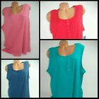 Laura Scott Womens Tank Top Solid Shirt Blouse Ribbed Sleeveless NEW Plus Size