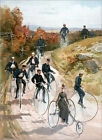 Poster / Leinwandbild Bicycling, 1887. - Louis Prang