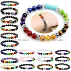 Fashion Elastic Mens Womens 7 Stone Chakra Healing Reiki Prayer Bead Bracelet