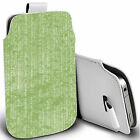 pu leather pull tab pouch case for majority Mobile - green profficient pouch