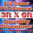 6 ft x 3 ft PVC VINYL BANNER SOLVENT PRINTED OUTDOOR ADVERTISING SIGN DISPLAY