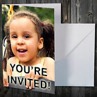 20 PERSONALISED PHOTO PICTURE CARDS WITH ANY TEXT FOR BIRTHDAY YOU'RE INVITED