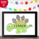 PERSONALISED Christmas Gifts - Dinosaur Word Art Present Boy Girl Him Her