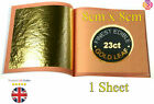 Genuine Edible 23ct Carat Gold Leaf Sheets 8cm x 8cm