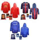FC Barcelona Chelsea Manchester United adults hooded football poncho rain shirt