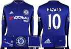 *15 / 16 - ADIDAS ; CHELSEA HOME SHIRT LS + PATCHES / HAZARD 10 = SIZE*
