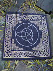 Altar Cloth Triquetra Black Celtic knots 24 x24 inch Pagan Druid Wicca wiccan