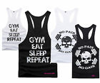 Ladies Racerback Workout Muscle Vest top - gym sport fitness nike weightlifting