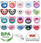 NUK BABY SOOTHERS PACIFIERS ORTHODONTIC DUMMIES 0-36 MONTHS SILICONE BPA FREE
