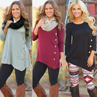 Sexy Women Celeb Long Sleeve Tops Blouse Ladies Loose T shirt Clothes Coat